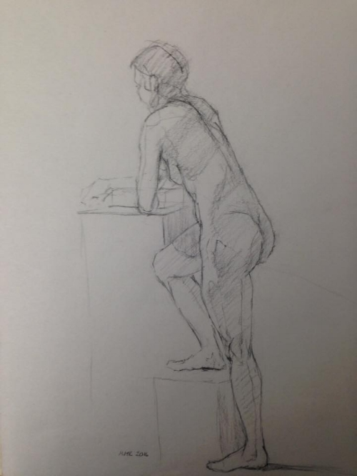 """""""Nude Drawing"""" Lovely figure sketch by Mary Millan Klunk $50 (from a Baum figure class)"""