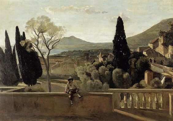 Berthe's copy of Corot's painting (See  more paintings  from Berthe's long career as a painter)