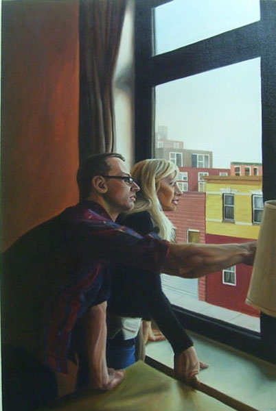 """""""Interior Situations"""", 36""""x24"""", oil on canvas"""