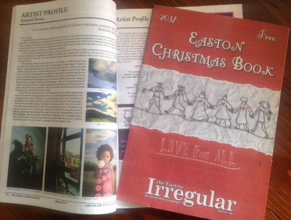 """This is my most recent  Easton Irregular  article. Pick up the Christmas edition of the Easton Irregular downtown today! I write the regular """"Artist Profile"""" column, and I also publish my articles here on my blog for those of you who can't get a hard copy. Enjoy! For more about this:  Published! (Introducing Myself as a Writer)"""