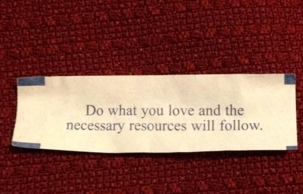 My New Year's Eve Fortune cookie!