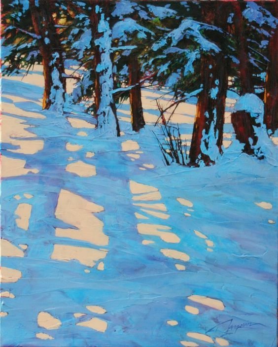 """Christmas Shadows"" 30x24"" by  David Langevin"