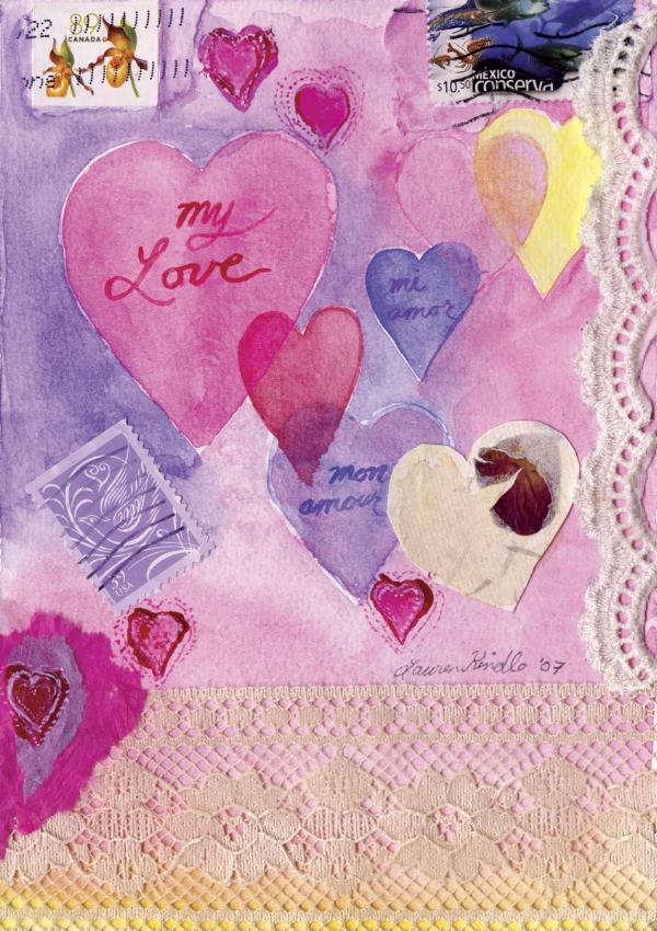 """My Love"" collage, 5x7"""