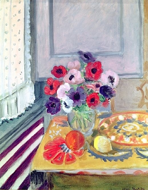Still Life with Anemones, 1924 (oil on canvas), Henri Matisse