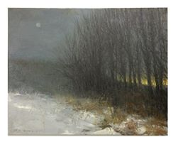 """""""A Winter's Evening""""    16""""x20""""oil on canvas"""