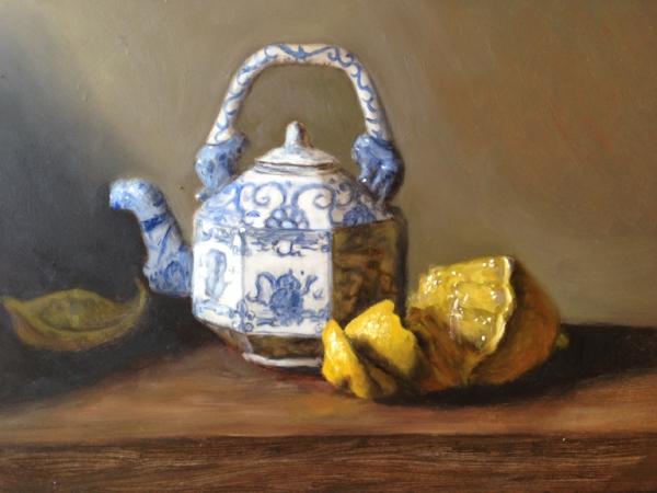 """""""Helena's Teapot"""" oil on board, 8x10"""" 2017"""