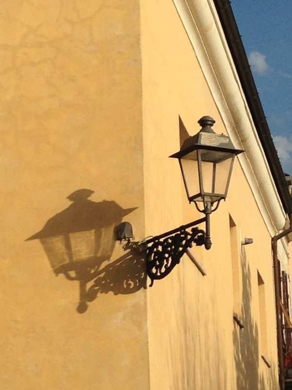 Shadows on a wall in Civita Castellana, the town where I stayed for two weeks!