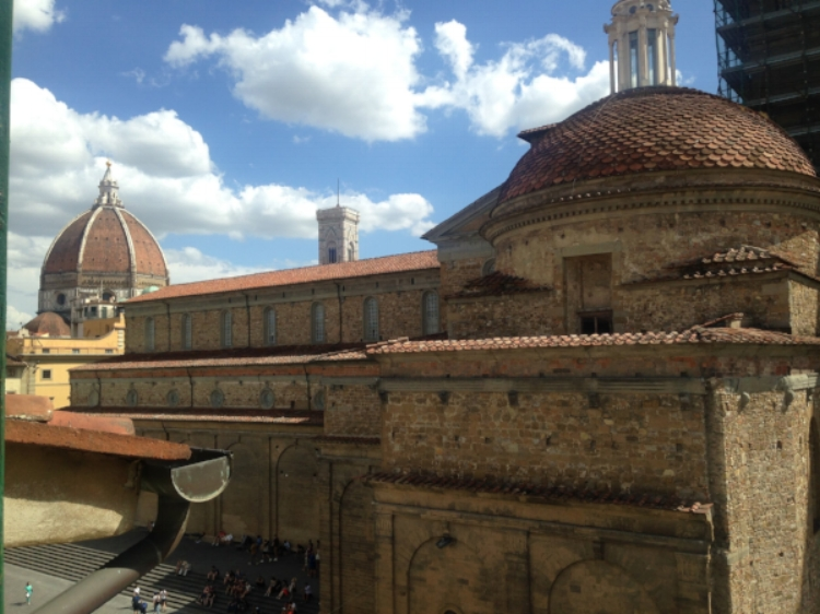 The view from my hostel window in Florence!