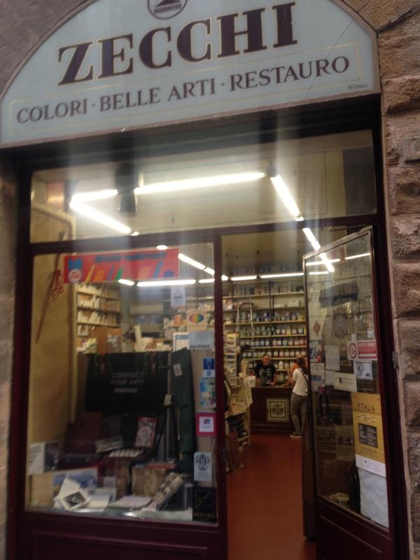 I stumbled upon this fantastic art supply shop:  Zecchi .