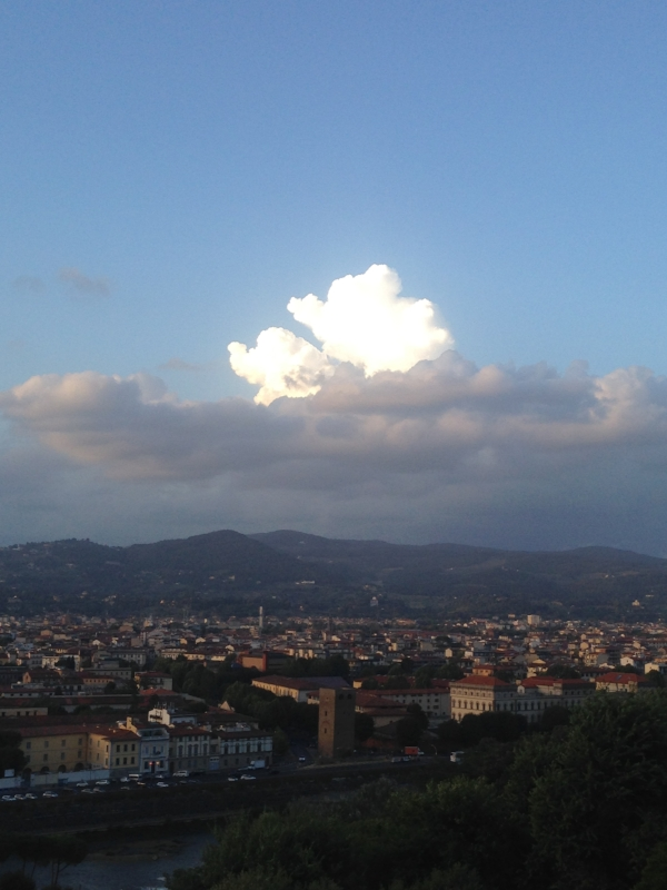 a view from the  Piazzale Michelangelo , my first evening in Florence