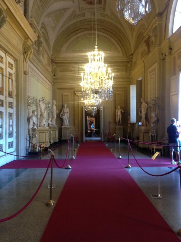 One of many grandiose hallways!