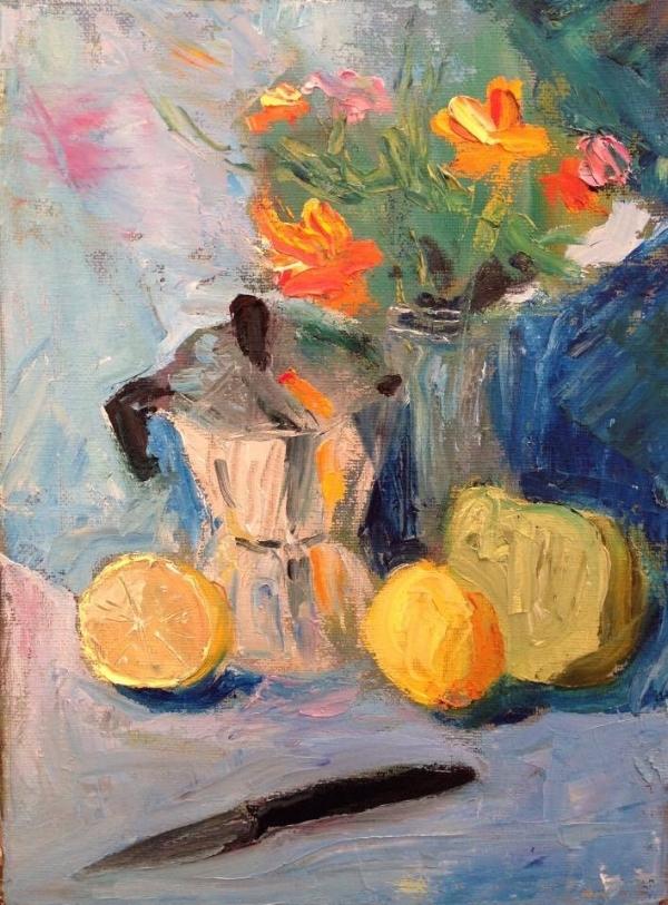 """Macchinetta"" oil on canvas, 9x12"""