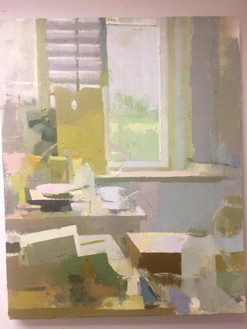 """""""Studio Visit"""" an oil painting by Kristen Peyton"""