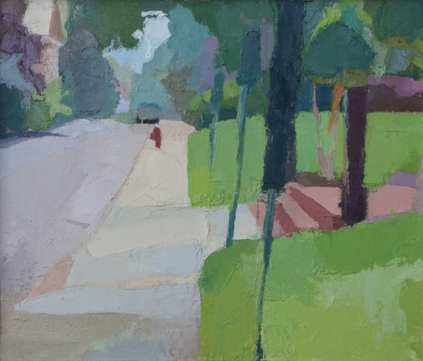 """Scotland Street"" oil on canvas on board, 2018, 10.25x12"""