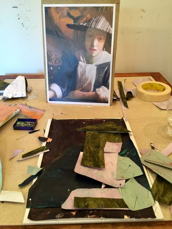 Day 1, End of Day 1. Work in progress by Irene Tatariw Trindle