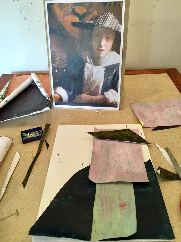 Starting the collage…