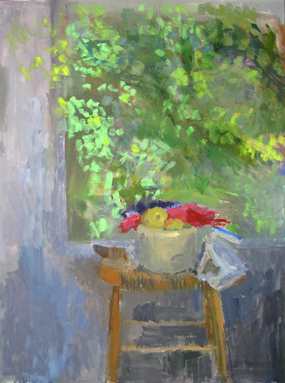 """Still Life in the Studio"" oil on canvas by Ellen Sapienza. 40""x30"" $1100"