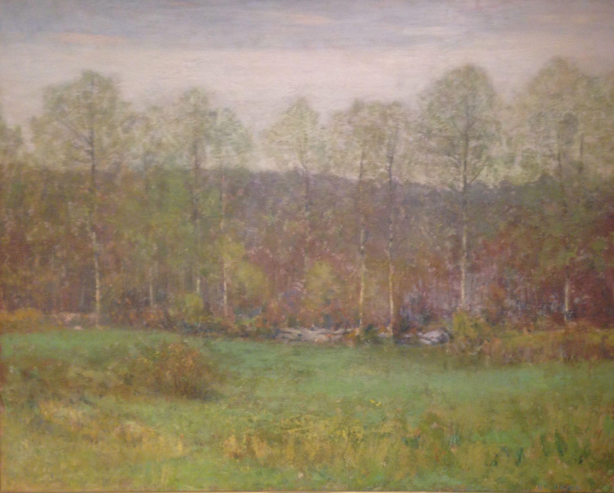 """The First Leaves"" by Dwight William Tryon"