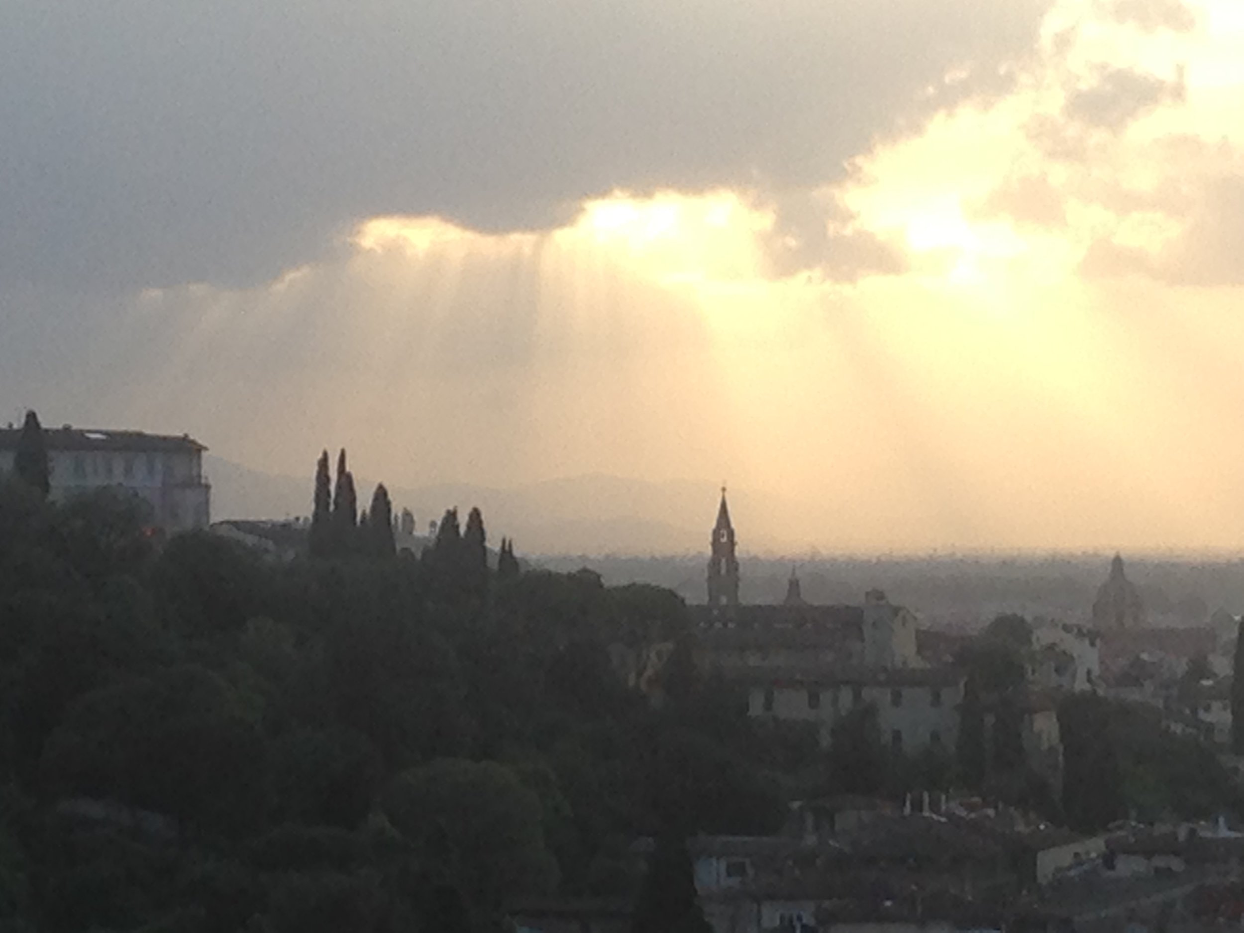 sunset over Florence, July 2017