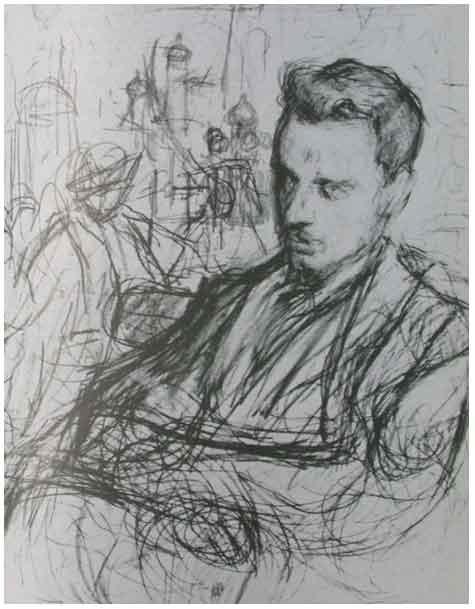 a wonderful sketch of the poet Rilke by the Russian impressionist,  Leonid Pasternak