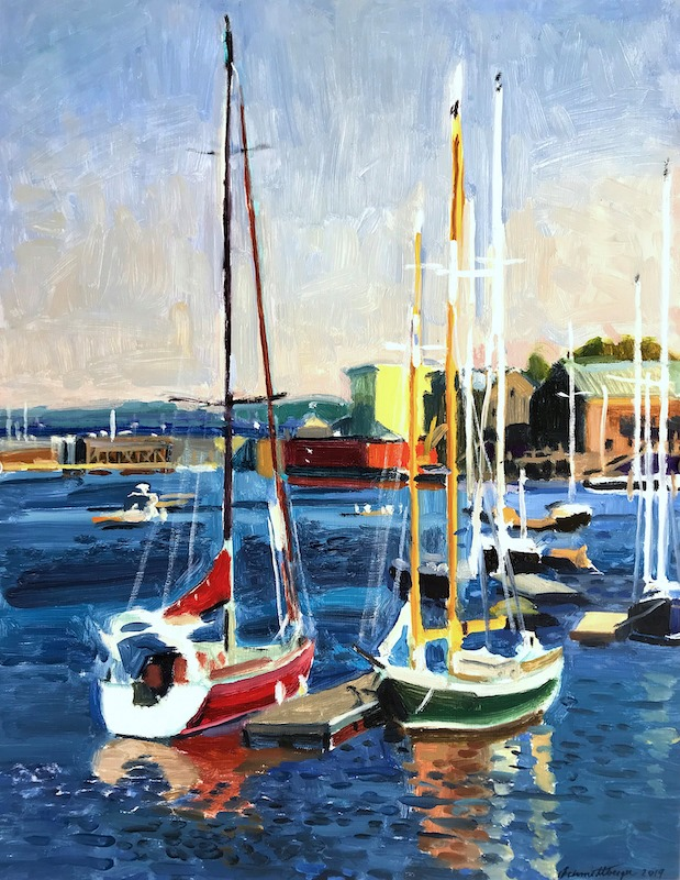 """Belfast Sailboats"" 18x14 inches"