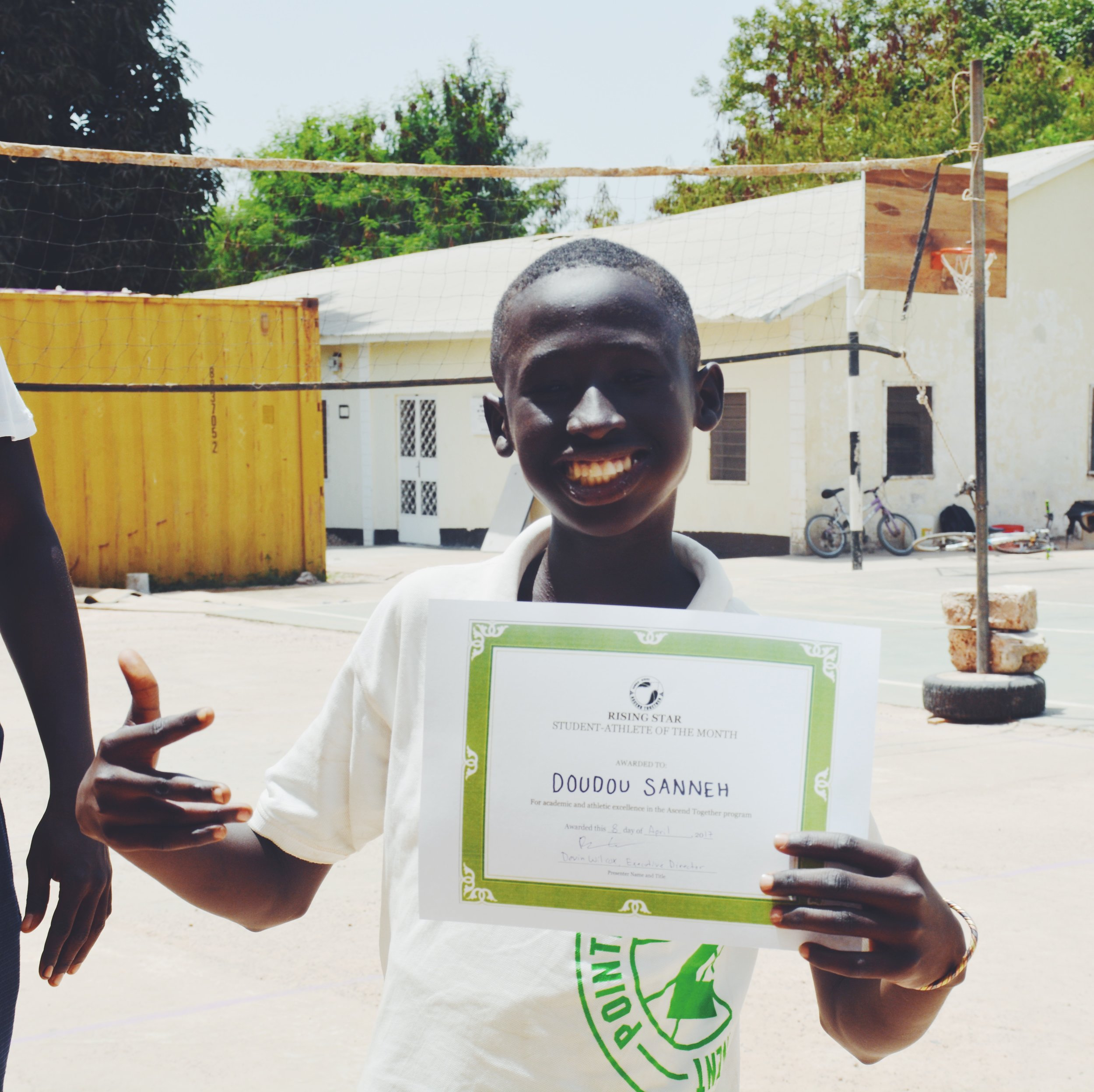 Doudou Sanneh, 14 years old, grade 8. St. Theresa's Student-Athlete of the Month, March 2017.