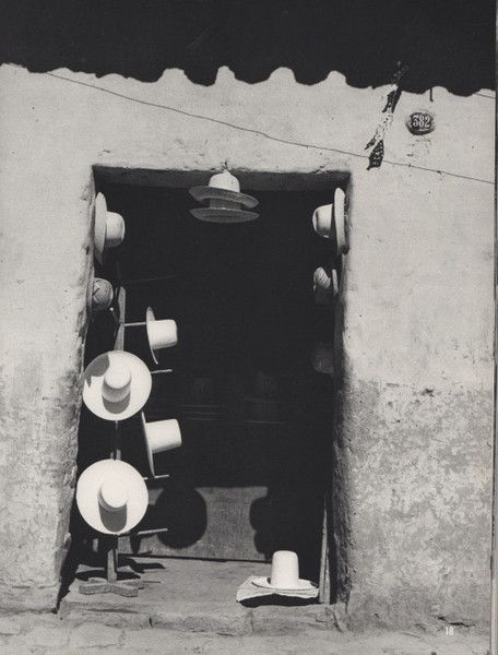 INDIENS PAS MORTS de Georges Arnaud | Photographs of Werner Bischoff, Robert Frank and Pierre Verger, 1956. Hat store in Cochabamba, Bolivia, by Pierre Verger.