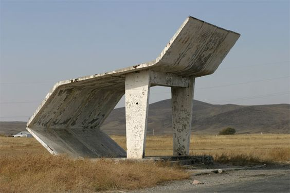Soviet bus shelter by Christopher Herwig.