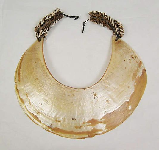 Shell Necklace, Oceanic, early 20th century. Made of shell, hemp, metal. Previously owned by Muriel Kallis Newman and gifted to the Metropolitan Museum of Art in 2008.
