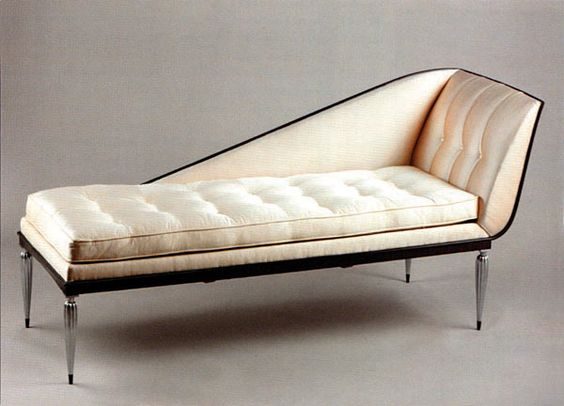 Émile-Jacques Ruhlmann, Daybed, 1928. Macassar ebony and silvered bronze.