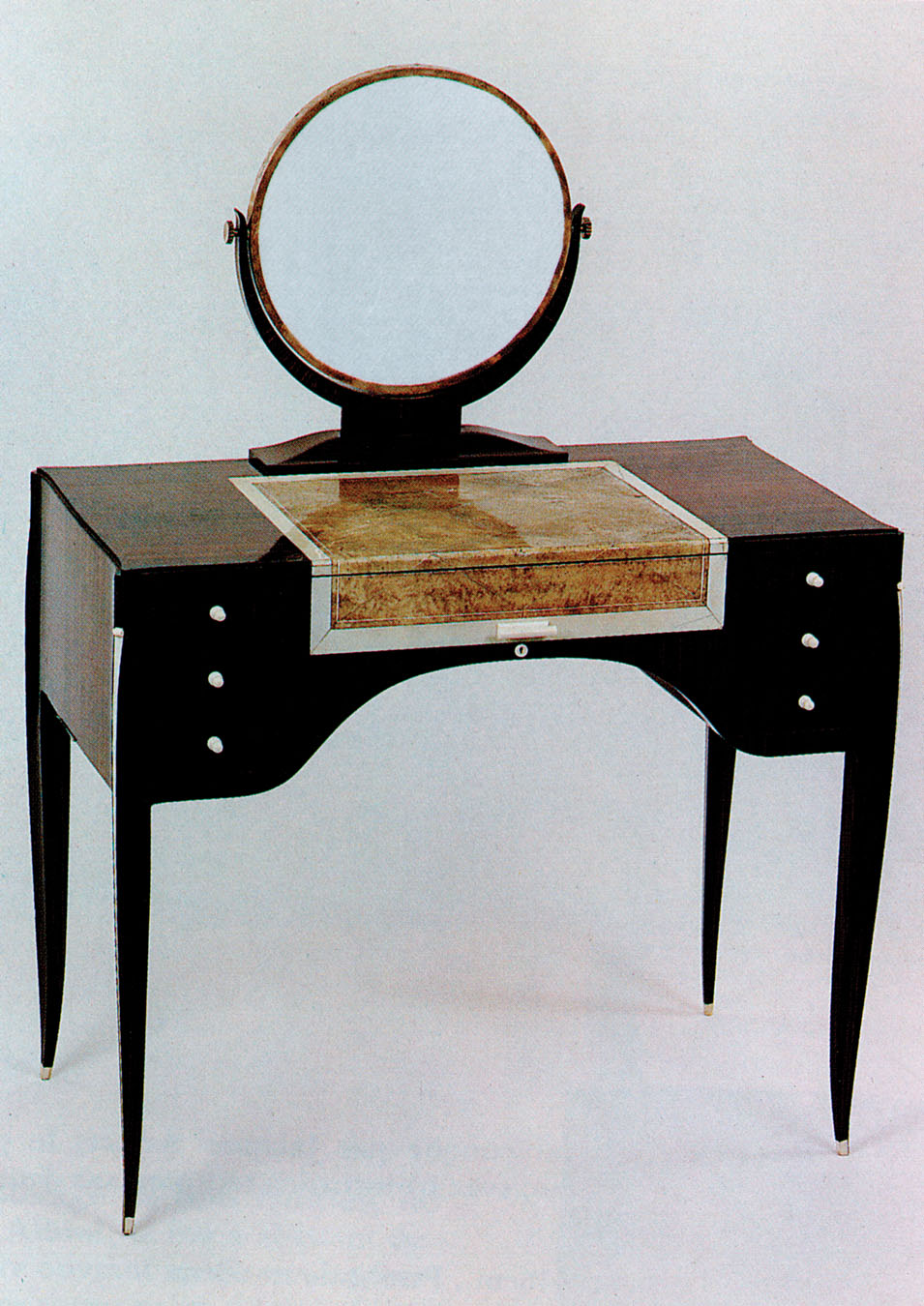 Émile-Jacques Ruhlmann, Dressing Table. Rosewood, Shagreen, Ivory, Mirror. Specific year unknown. Pre-1933.