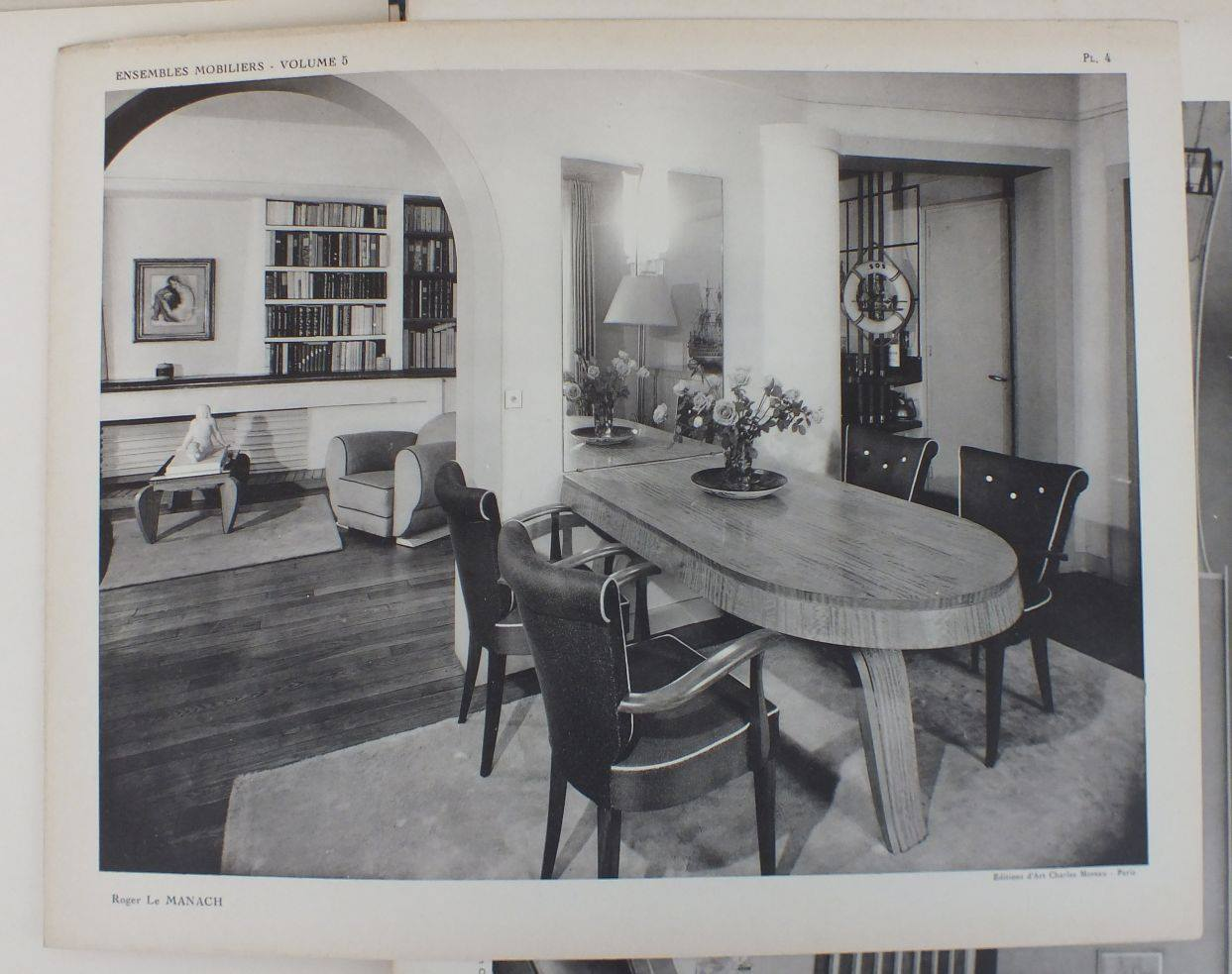 Image from Ensembles Mobiliers, Volume 5. Interior by Roger Le Manach. Publication created by Charles Moreau.