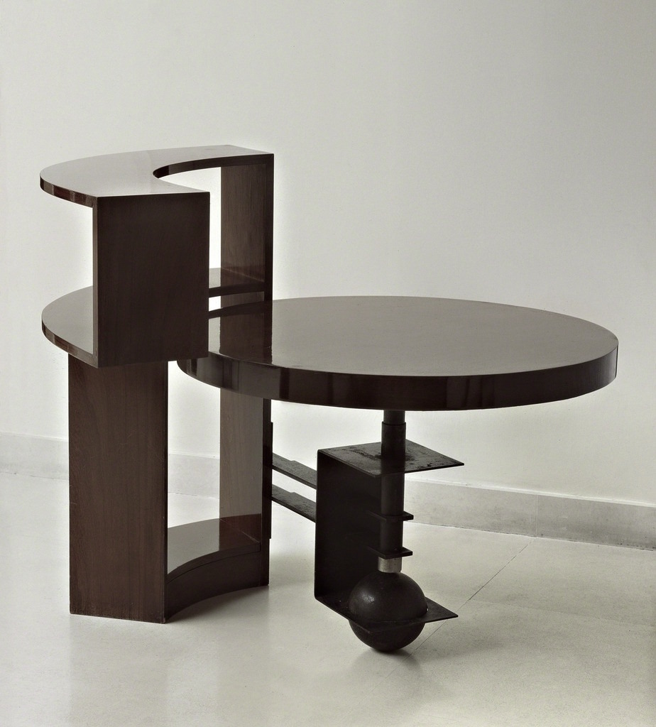 Pierre Chareau, Bookshelf Table, 1928. Walnut and metal.