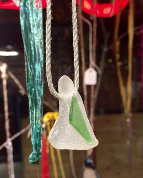 Sea glass necklace. Artist: Judy Quinn