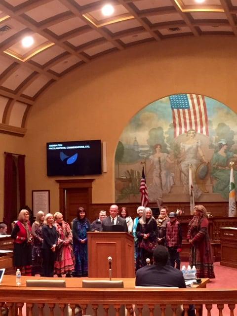 Mayor Ardis reads the proclamation.