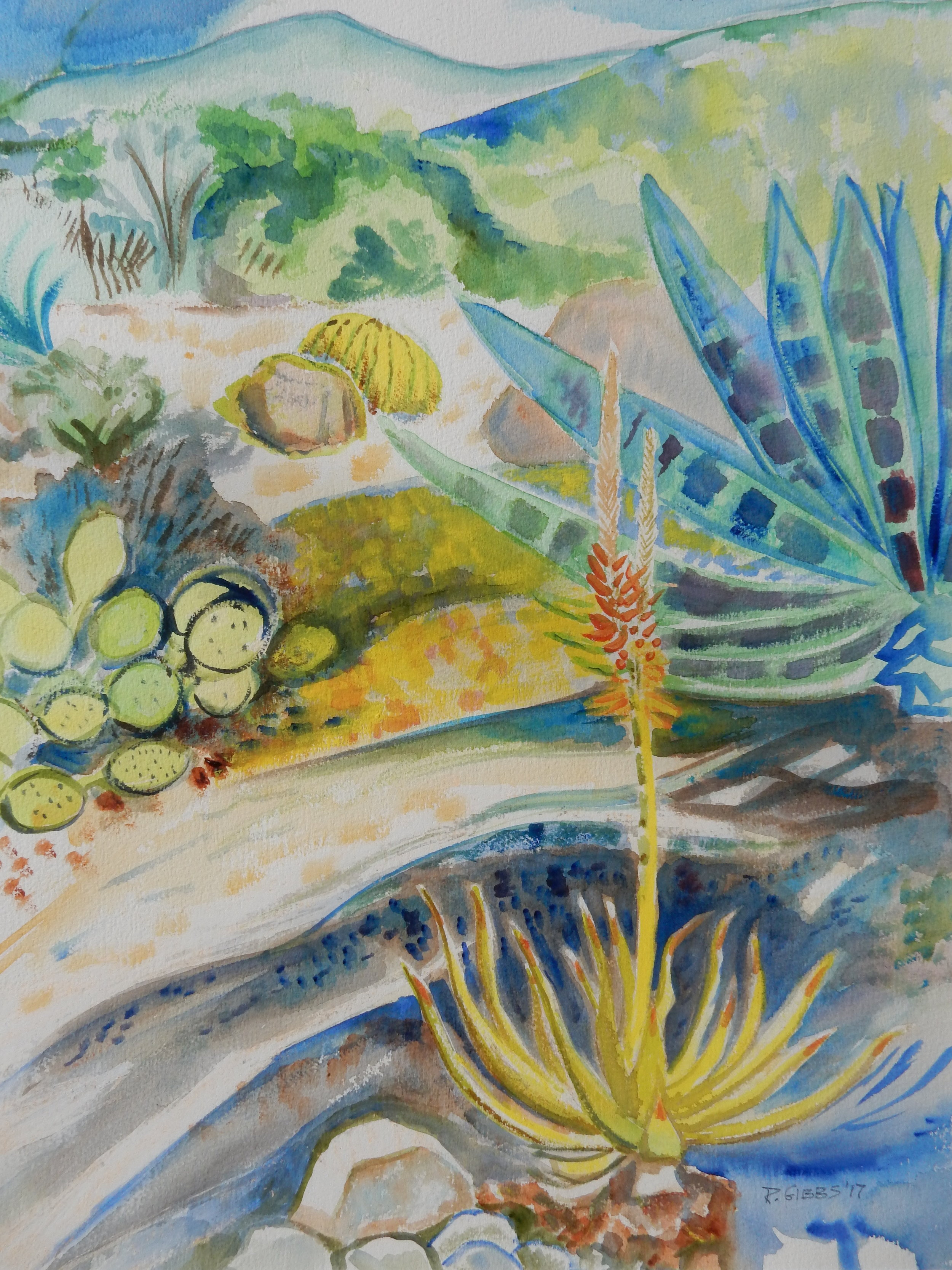 Desert Days  (Watercolor)