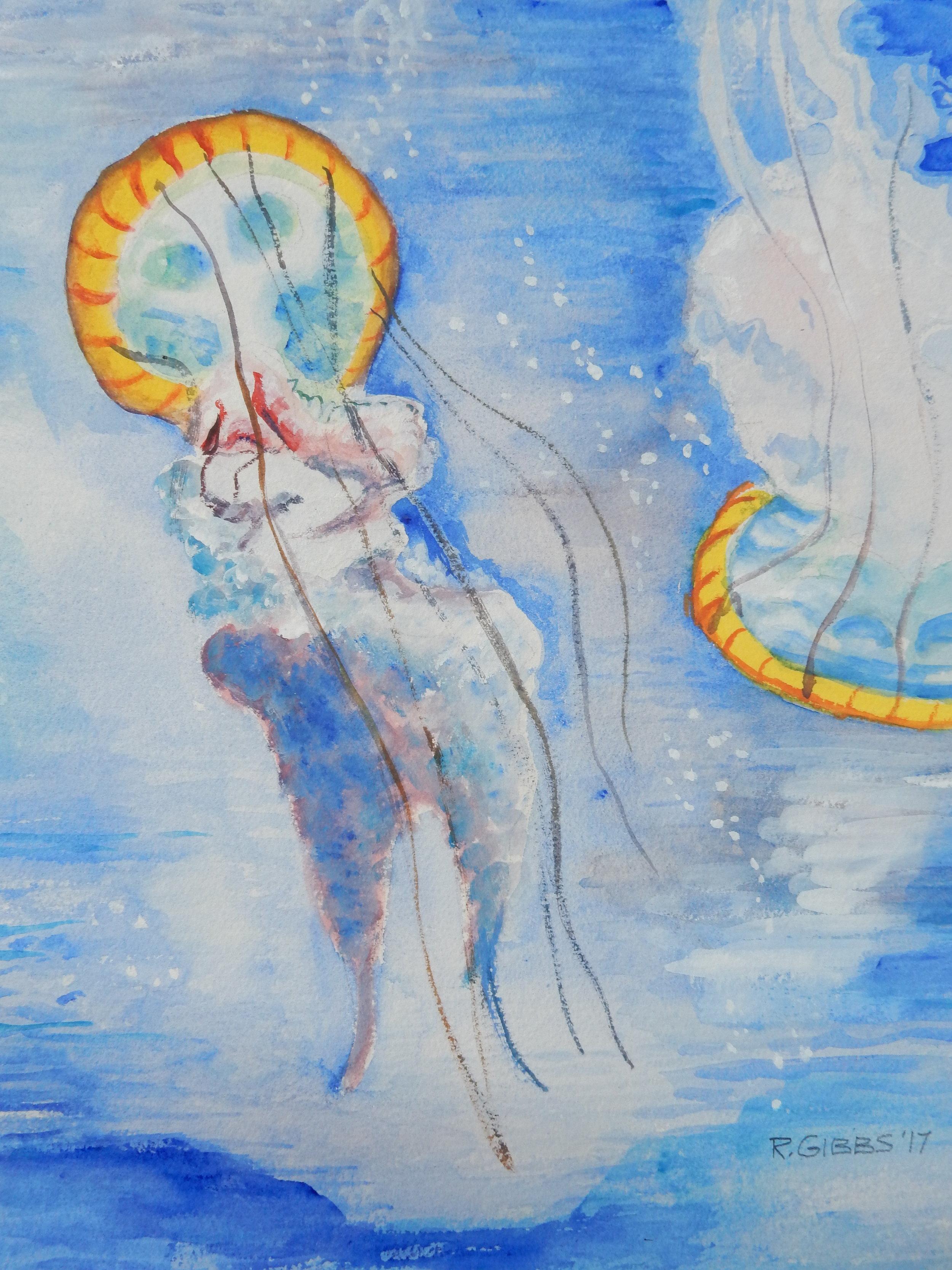 Jellyfish I  (Watercolor)