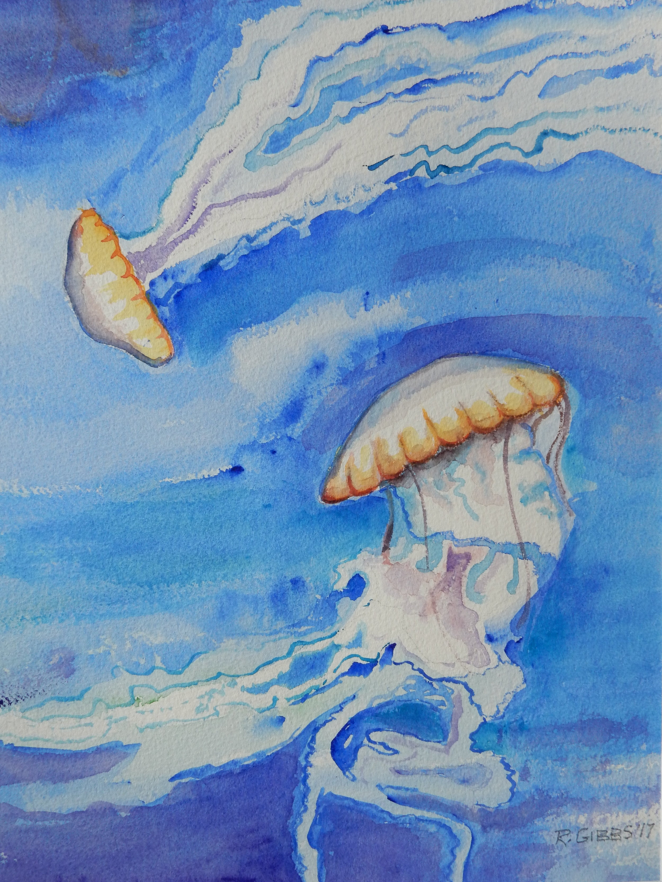 Jellyfish II  (Watercolor)
