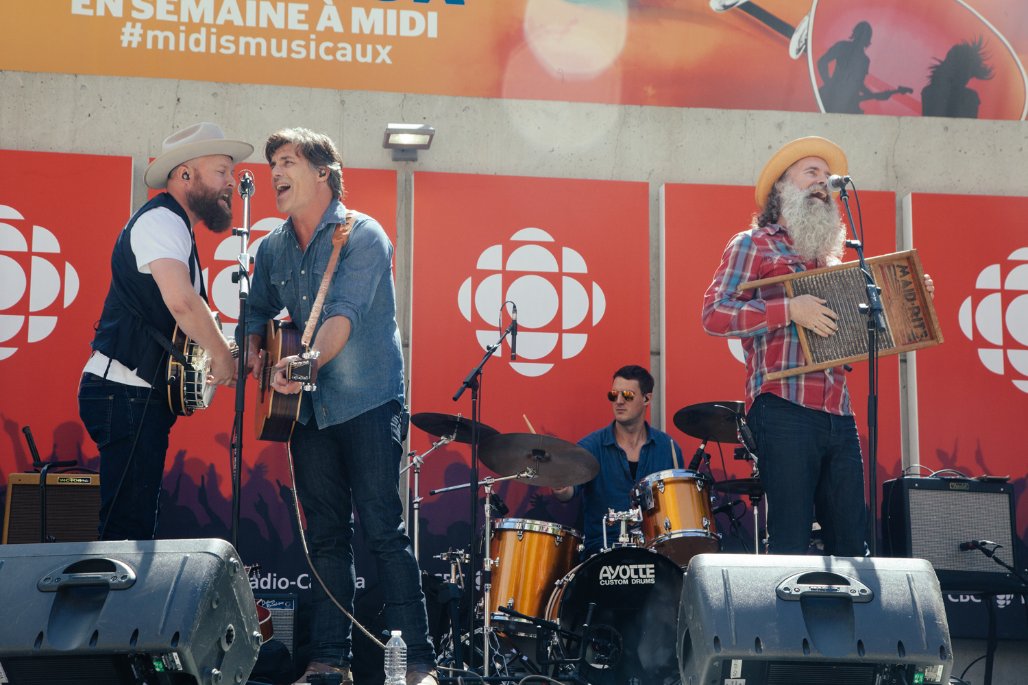 Washboard Union @ CBC Vancouver Photo by Christine McAvoy