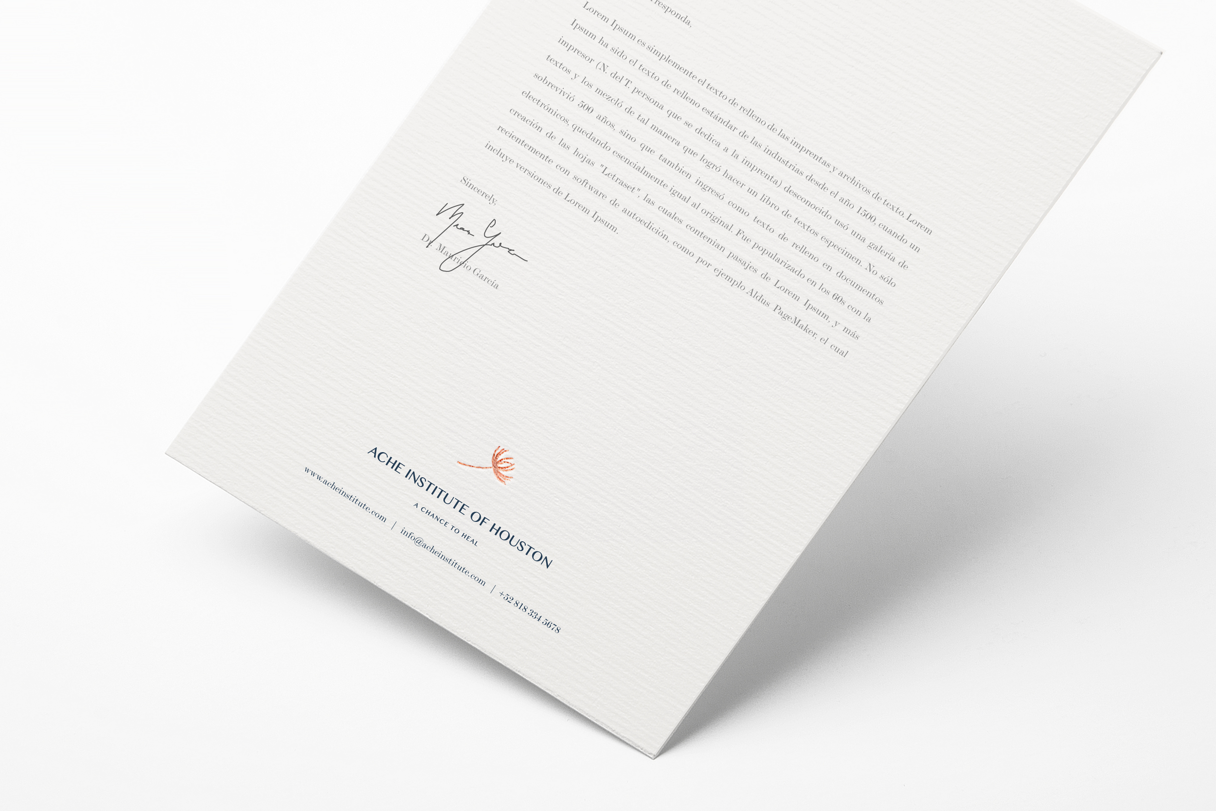 Letterhead design foil