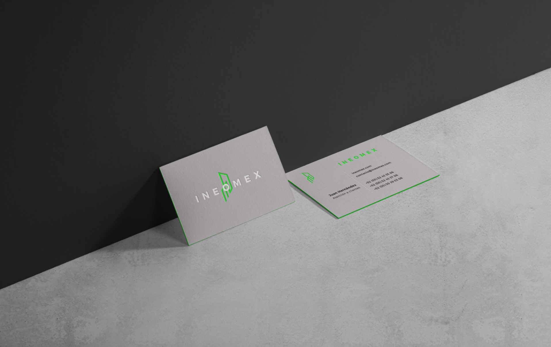 cool business card design neon green with gray.png