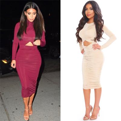 Kim Kardashian Cutout Dress