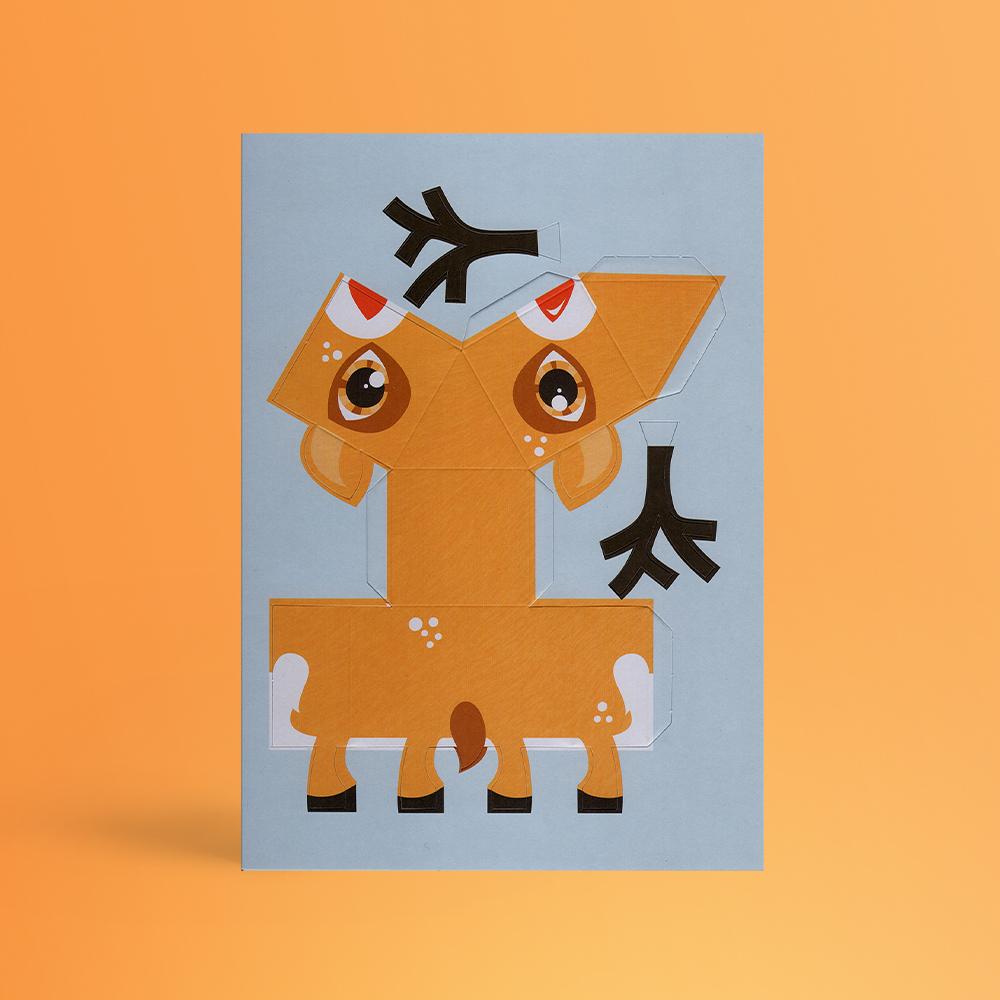 Christmas Creature Postcards