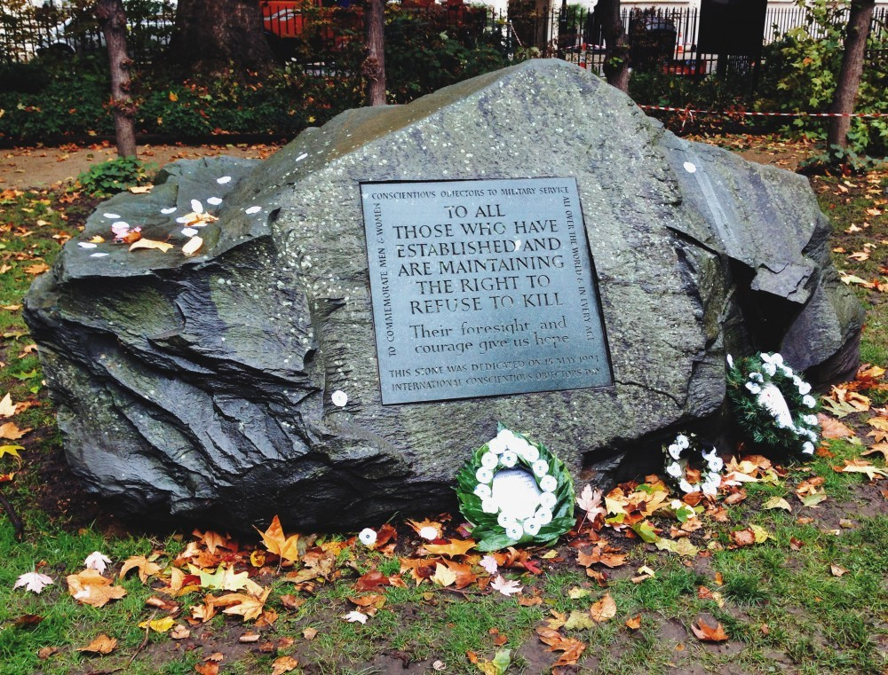 Conscientious Objectors Stone, Tavistock Square, London