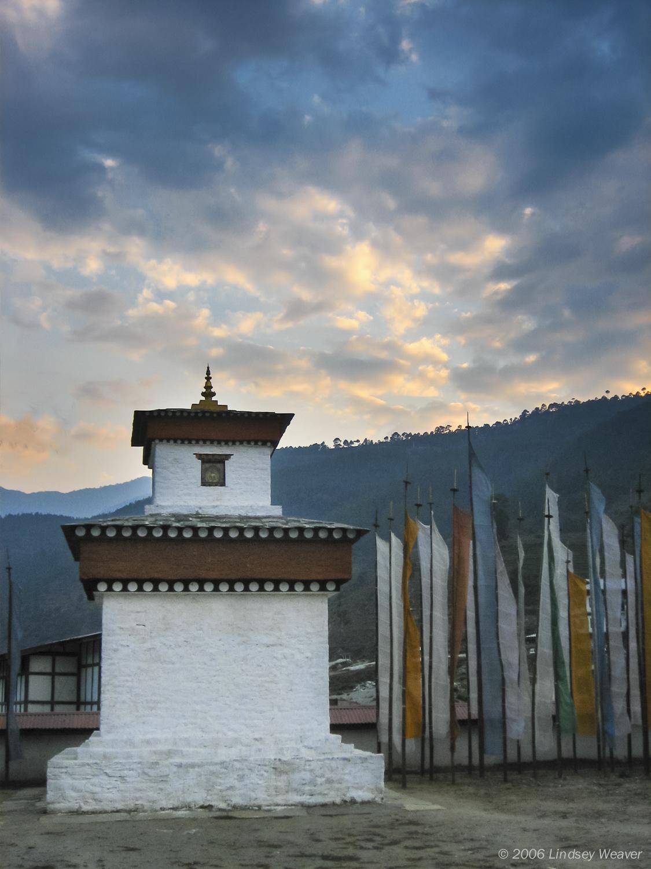 Stupa at sunset