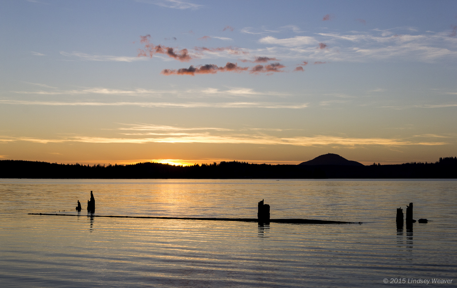Sunset over Lake Quinault