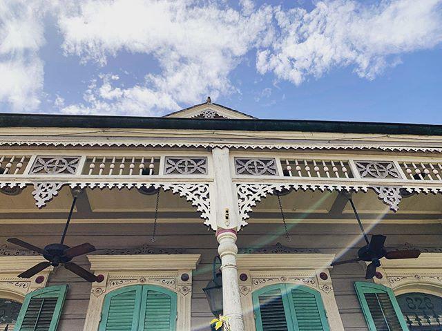Details. | French Quarter, New Orleans (18 August 2019) ||| #architecturaldetails #neworleans #nola #nolaarchitecture #neworleansarchitecture #shotgunhouses #shotgunhousesofneworleans #larkfilter #lensflare
