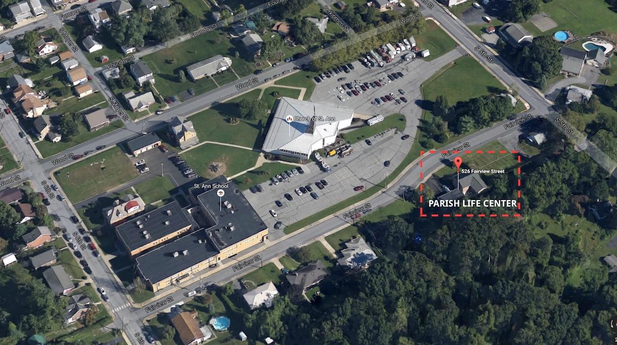 ST. ANN PARISH CAMPUS: click image to enlarge  St. Ann School Church of St. Ann Parish Life Center
