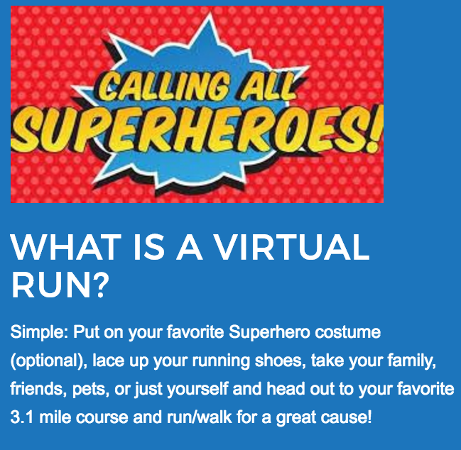 Click on the photo to register for the VIRTUAL RACE.