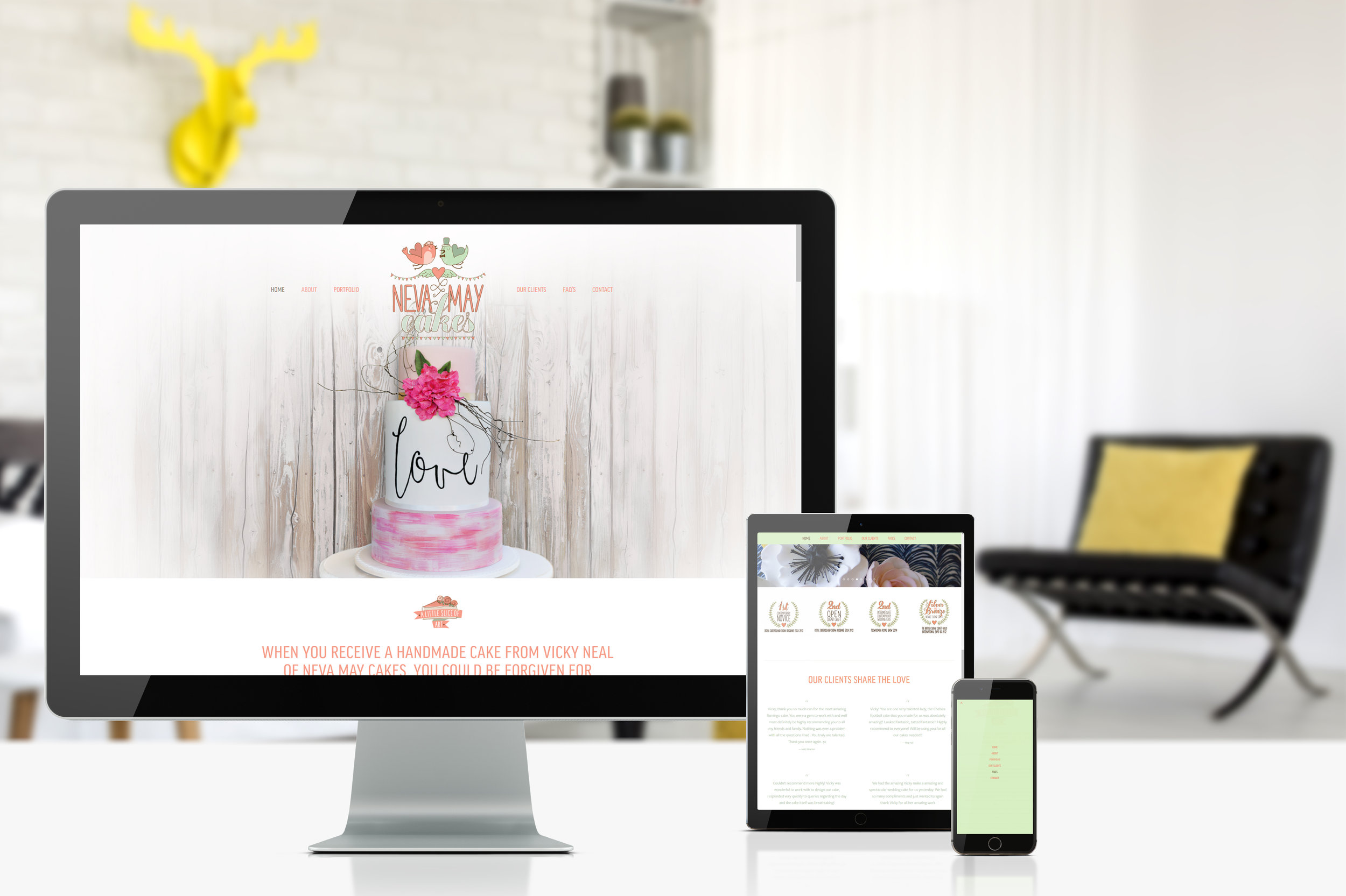 neva may cakes<br><strong>Web Design</strong>